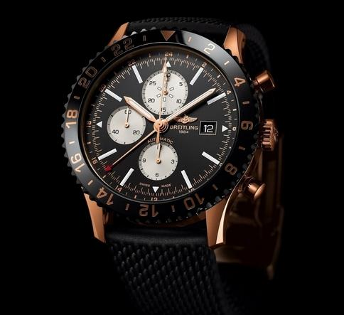 Breitling Chronoliner Red Gold 46 Chronograph Replica